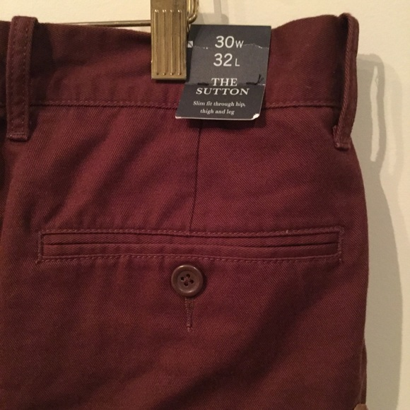select for authentic top-rated newest united states J. Crew Men's Sutton Burgundy Chino Pant NWT
